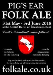 Folk ale festival flyer 2018